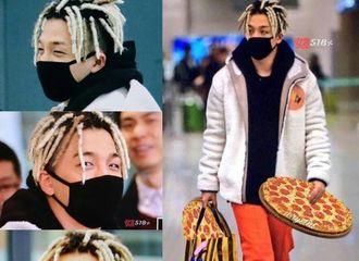 [新闻]170118 太阳平安抵达韩国 欧巴给你带Pizza啦!