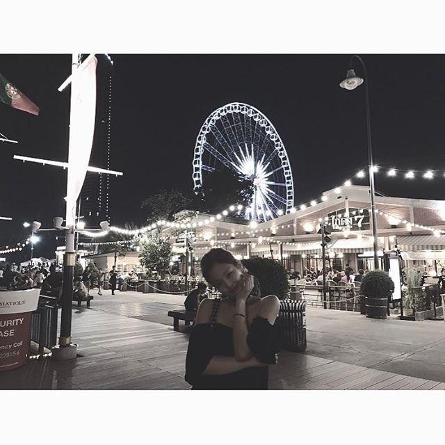 [分享]170219 JENNIE分享曼谷美丽夜景 夜色下闪闪发光的美貌
