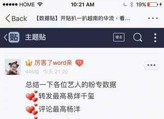 [分享]170219 越南华语流量数据总结,杨洋的高人气不可置否!