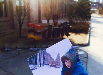 [分享]170227 网友在二源玩雪地点偶遇王俊凯 时尚BOY阳光帅气!