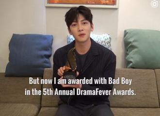 [新闻]170427 池昌旭获第五届Dramafever Awards Best Bad Boy奖!