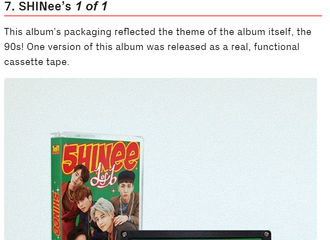 [分享]170723 Koreaboo评选韩流专辑最佳包装TOP11  SHINee《1 of 1》入选