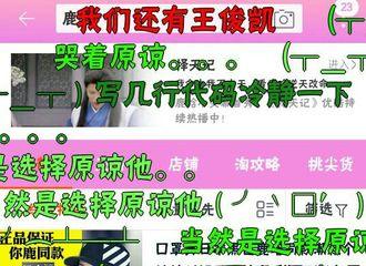 """[分享]171009 某宝搜索鹿晗出弹幕 """"我们还有王俊凯""""红字醒目"""