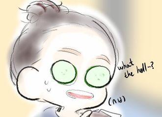 [分享]171117 西西看了想打人  敷黄瓜面膜的郑秀妍敲可爱!