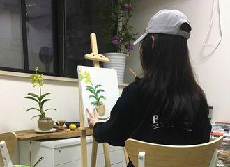 [新闻]180414 唐嫣晒人生第一幅画作 粉丝感慨爱豆系全能