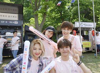[分享]180622 变身啦啦队 孝渊-允儿为公司团建竞赛活动加油助威