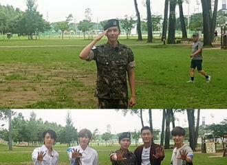 [分享]180715 Super Junior 厉旭,给ELF的花礼物♥退伍FM现场公开!