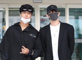 [分享]180920 VIXX LR全黑装扮现身机场 前往中国台湾举办演唱会