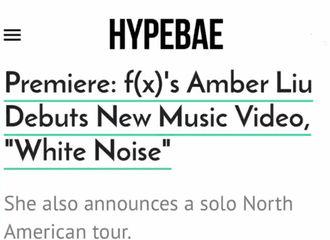 [分享]180921 HYPEBAE聚焦Amber新曲《White Noise》 讲述背后创作故事