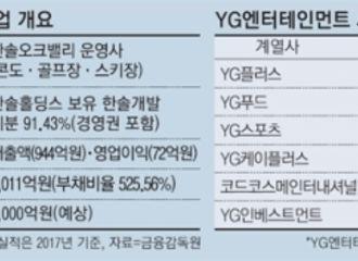 [新闻]181017 YG计划千亿竞标收购度假村  股价急下跌
