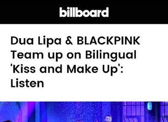"""[星闻]Billboard集中BLACKPINK&Dua Lipa合作曲""""具有中毒性的Vocal"""""""