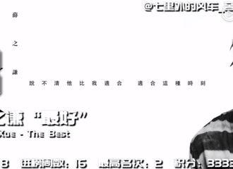 [新闻]181119 薛之谦相关音乐榜单周汇 内地榜+海外榜二合一放送