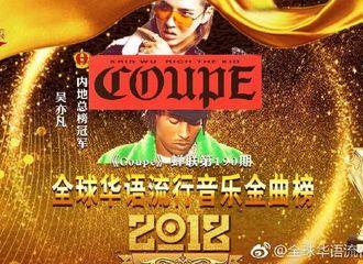 [新闻]181216 大写的争气:吴亦凡《Coupe》蝉联全球华语流行音乐金曲榜第189期-190期榜单冠军!