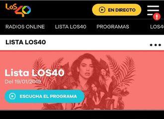 [分享]190120 BP&DUALIPA《KISS AND MAKE UP》登上西班牙Los 40单曲榜第一名!