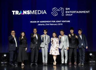 """[星闻]SM联手印度尼西亚""""CT集团""""达成合作 SJ利特与SM李秀满共同出席活动"""