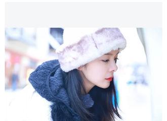 """[分享]190225 傅菁为你解决秃头烦恼  戴上""""蒙古包""""帽子保暖又时尚"""
