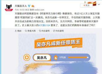 """[新闻]190517  潮流达人时尚变现:吴亦凡""""带货王""""称号名副其实"""