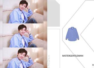 [分享]190520 王俊凯日常时尚满分,蓝色衬衫少年感十足