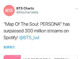 [新闻]190520 BTS流媒Spotify专辑流量突破3亿?。?! 一直行走在圈粉路上的防弹