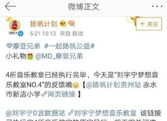 [新闻]190521 爱心公益为爱而行 摩饭捐赠四所刘宇宁梦想音乐教室已执行完毕