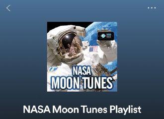 [分享]190716 适合月球旅行的推荐音乐!《Moon U》成功入选NASA月亮Tunes歌单