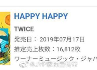 [新闻]190721 TWICE全新日文单曲发行第五日重返日本Oricon榜冠军!