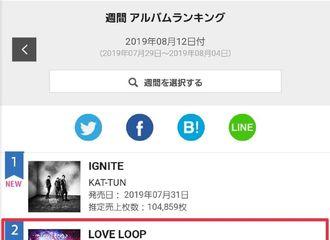[GOT7][新闻]190807 日专&樱花鸟宝脆骨!《LOVE LOOP》登Oricon专辑周榜二位