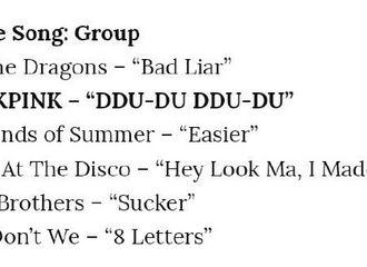 """[BLACKPINK][新闻]190812 BP《DDU-DU DDU-DU》获青少年选择奖中""""Choice Song Group""""奖项!"""