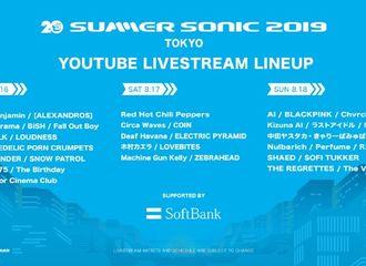 [BLACKPINK][新闻]190815 Summer Sonic 2019东京场BLACKPINK为第一波阵容,演唱会将会有油管直播!