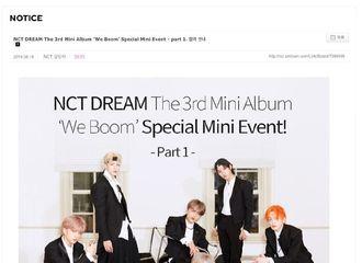 "[NCT][分享]190819 羡慕不来的福利!NCT DREAM将于25日举办""We Boom""特别迷你活动"