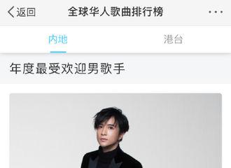 [新闻]190821 恭喜薛之谦获得全球华人歌曲排行榜『年度最受欢迎内地男歌手』!