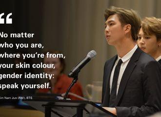 [防弹少年团][分享]190829 联合国儿童基金会秘书长更推南俊相关 感谢为gender identity而做的努力