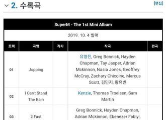[NCT][分享]190901 李泰容参与SuperM首张专辑歌曲《No Manners》的作曲!