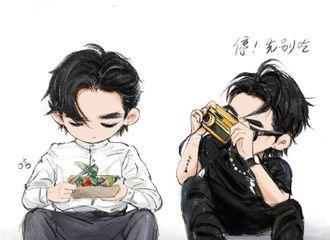 [分享]190916 饭绘漫画版吴亦凡,快把自拍照交出来