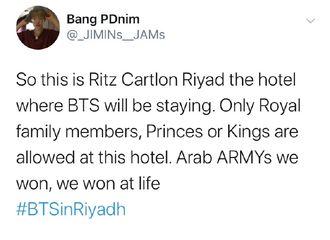 """[防弹少年团][必威betway]191011 一起来欣赏防弹沙特入住的酒店,感受什么叫做""""壕无人性"""""""