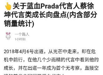 [新闻]191019 蓝血代言人蔡徐坤代言类成长向盘点 带货能力不断被认证