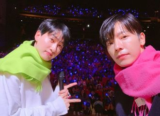[Super Junior][分享]191029 竹防鳀鱼锁了!赫海同戴情侣款围巾留念合照