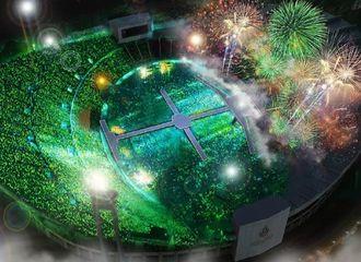 [GOT7][分享]191218 6万人演唱会现场俯拍实景模拟!这片绿色应援海只为GOT7而闪亮