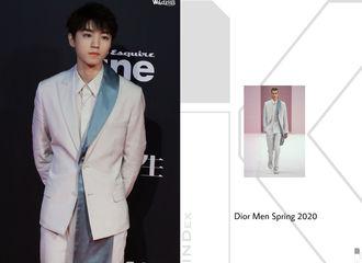 [TFBOYS][新闻]191219 王俊凯时尚先生服装索引,西装革履气质非凡