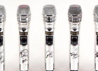 [防弹少年团][新闻]191229 BTS亲笔签名巡演麦克风将于美国慈善拍卖会上竞拍,预计最低可售1千万韩元