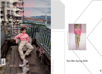 [新闻]190118 穿粉色毛衣少女心的小凯,气质绝佳满分时尚