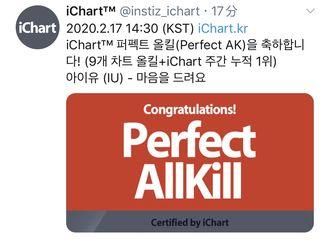 [新闻]200217 IU演唱《爱的迫降》OST《献上我心》达成iChart PK!