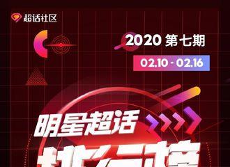 [新闻]200219 蔡徐坤超话周榜开年七连冠达成!