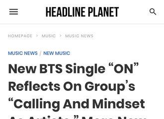 [新闻]200221 BTS新单曲《ON》反映了他们作为艺术家的呼唤与心态