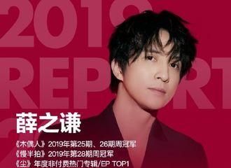 [薛之谦][新闻]200324 由你音乐榜2019华语数字音乐年度报告公开 薛之谦摘得三大荣誉
