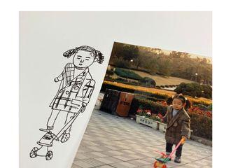 [分享]200329 玩车车的小小珠泫ni~Irene今日更新一则童年照