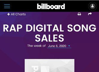 """[分享]200603 """"韩国SOLO歌手最初""""《大吹打》空降B榜Rap Digital Song Sales Chart榜首"""