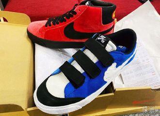 [新闻]200606 王一博绿洲晒红蓝双色新鞋 和新剧名字《冰雨火》有点配