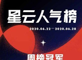 [新闻]200701 新一期星云人气榜周榜公开 肖战《红梅赞》再获周榜top1