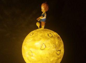 [分享]200709 小飞侠神仙作品又出新作 手工制作还原肖战手绘月球灯